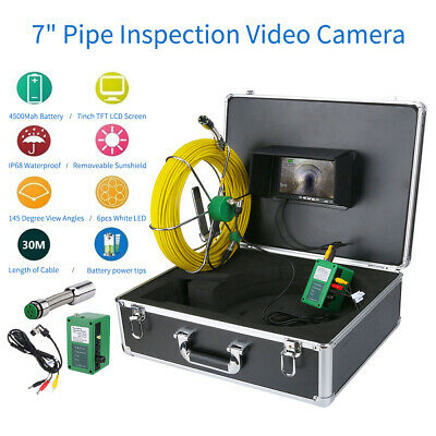 Hot 30m Sewer Waterproof Camera 7 Lcd Drain Pipe Pipeline Inspection System
