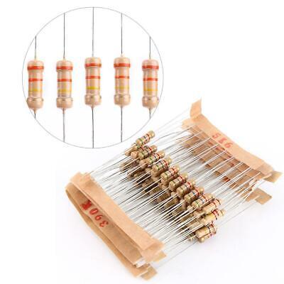 1-10m Ohm 12w 1000 Pcs Carbon Film Resistors Assortment Kits 100 Values Usa