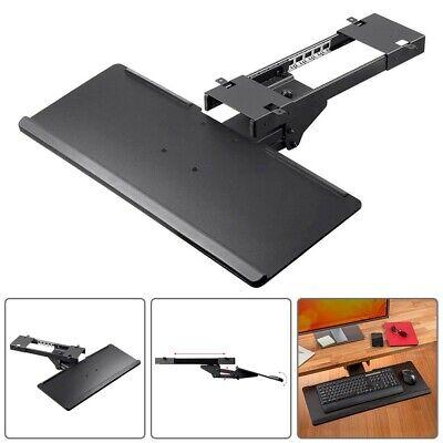 Adjustable Keyboard Tray Ergonomic Design Under Desk Mount W Full Size Platform