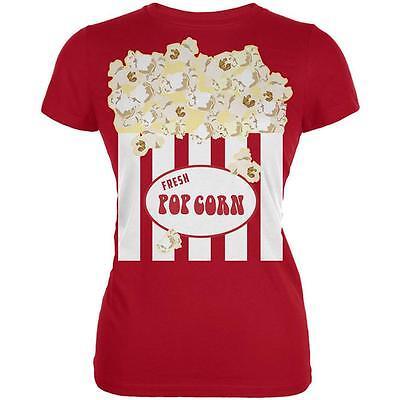 Halloween Popcorn Costume Juniors Soft T Shirt (Popcorn Costume Halloween)