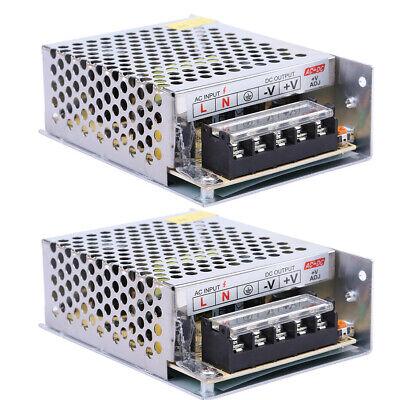 2x Ac 110v 220v To Dc 12v 5a 60w Regulated Switch Power Supply For Led Strip