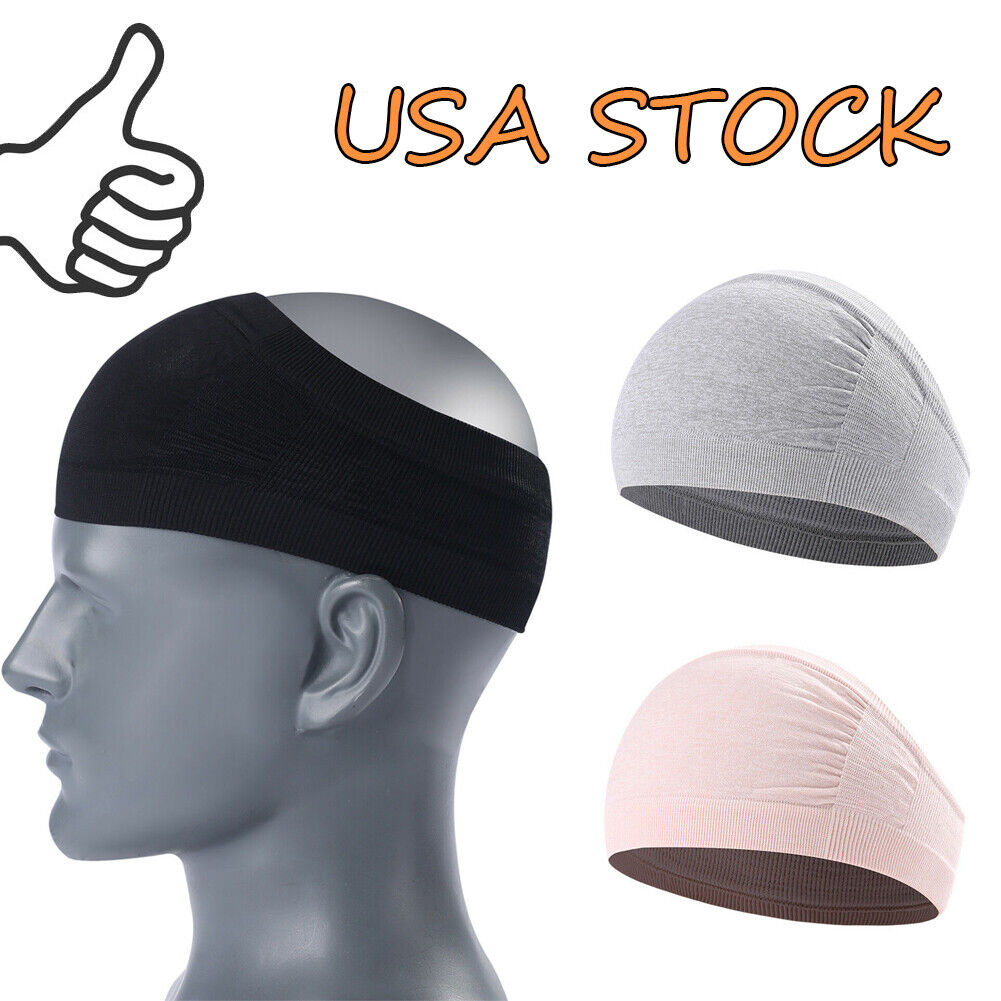 Men Women Wide Headband Sweatband Stretch Sweat Elastic Spor
