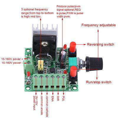 Stepper Dc Motor Controller Pwm Pulse Signal Generator Speed Regulator Board New