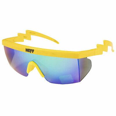 Neff Men's Brodie Single Lens Shades Sunglasses Highlighter Yellow Eyewear (Beach Eyewear)