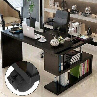 Foldable L-shape 360° Rotatable PC Computer Desk Study Table Office Workstation