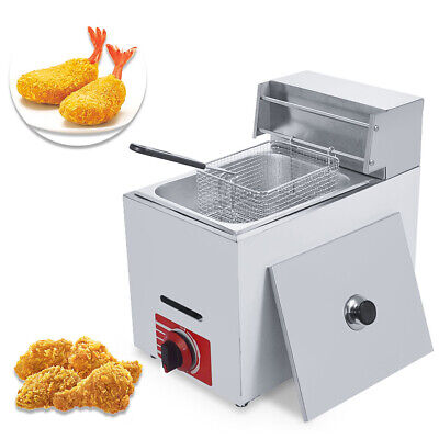 Commercial Countertop 10l Gas Fryer Single Basket Gf-71 Propane Lpg Hose