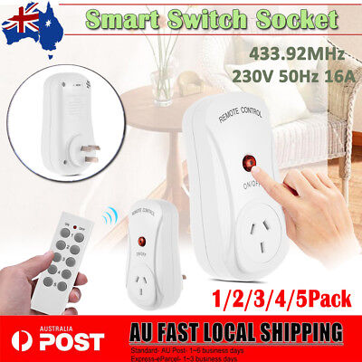 AU Wireless Smart Socket Switch Outlet + Remote Control Home Power Point AU Plug