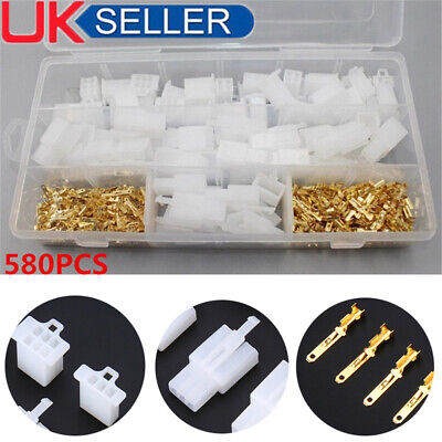 Motorcycle Car Electrical Auto Connectors Terminal 2.8mm 2/3/4/6 Pin Wire 40 UK