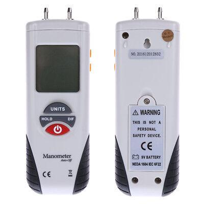 Digital Tester Manometer Air Pressure Meter Pressure Gauge Hvac Gas Pressure