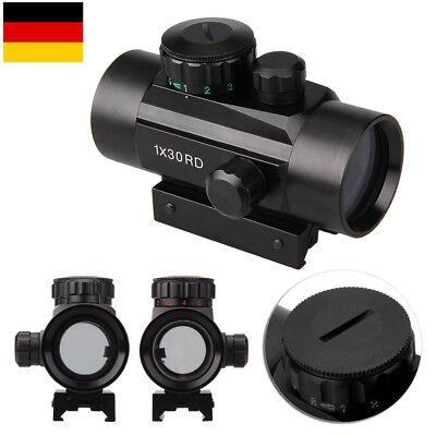 1X30 Leuchtpunktvisier Dot Laser Sight Zielfernrohr Airsoft Rifle Scope Rot/Grün (Scope Airsoft)