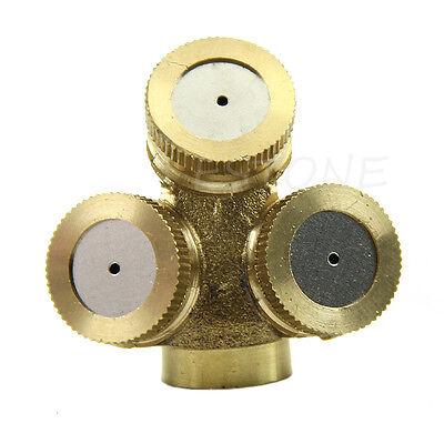 1x Adjustable Brass Spray Misting Nozzle Gardening ...