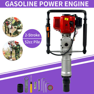 52cc Gas Powered T-post Driver Gasoline Engine Push Pile 2-stroke Fence Driver