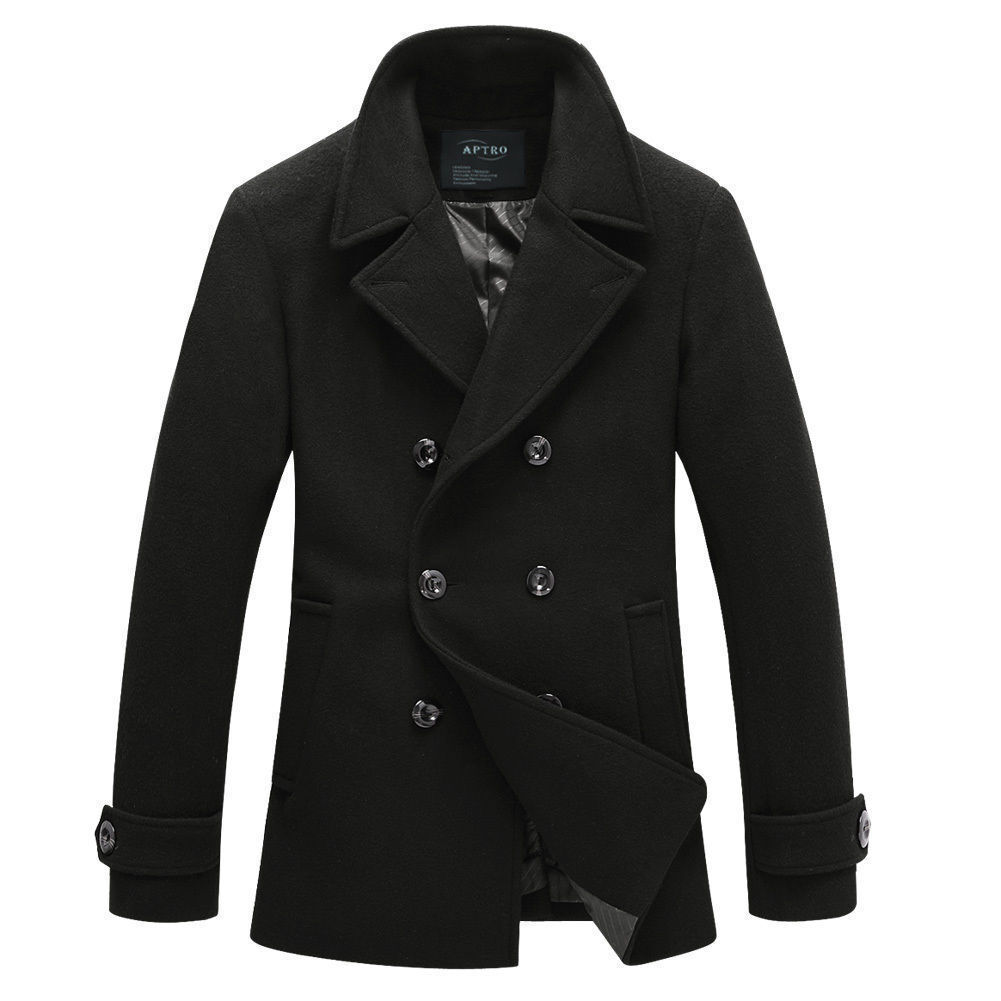 Wool Double Breast Peacoat
