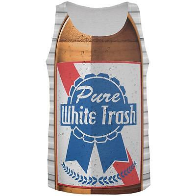 4th of July Halloween Pure White Trash Beer Costume All Over Mens Tank Top