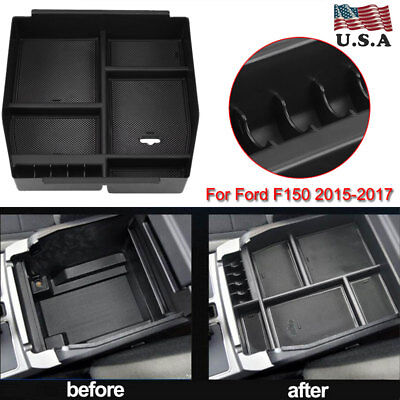 Center Console Organizer Armrest Storage Box Tray For 2011-2014 Ford F-150 F150