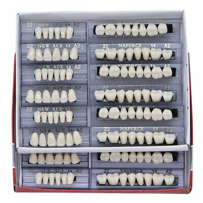 Usa 168pcs Dental Acrylic Resin Denture Teeth 22 A2 Shade Fullset Upper Lower