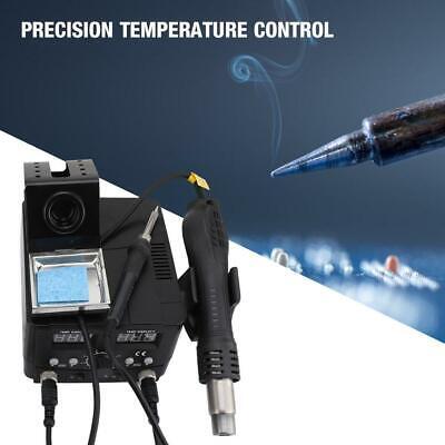 2 In 1 750w Smd Rework Station Hot Air Gun Soldering Iron Kit Digital Display