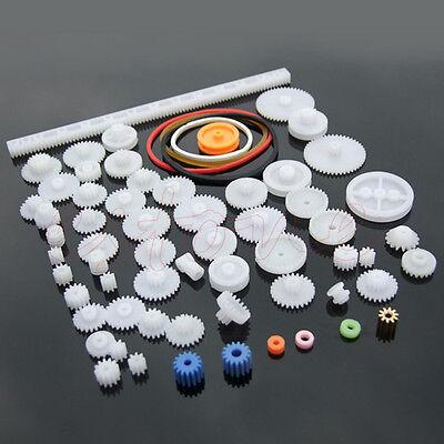 60pcs Type Plastic Shaft Single Double Reduction Crown Worm Gears Robot Diy Kit