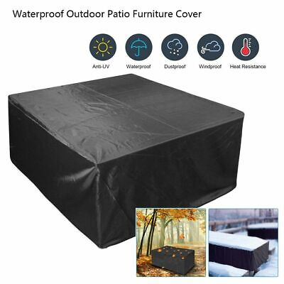 Waterproof Indoor/Outdoor Patio Furniture Cover Square Garden Rattan Table Cover Outdoor Square Table