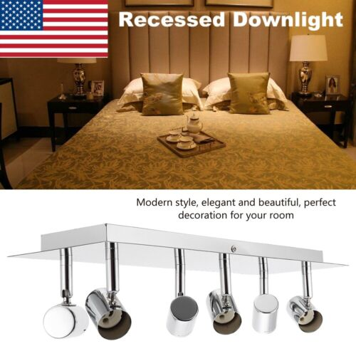 LED Track Lighting 6 Heads Ceiling Recessed Downlight Mount