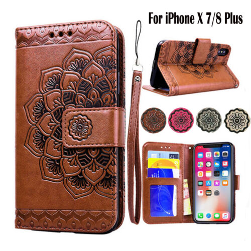 Flip Magnetic Wallet Case Leather Bag Stand Cover for iPhone 8 Plus 6S 7 + X 10 Cases, Covers & Skins