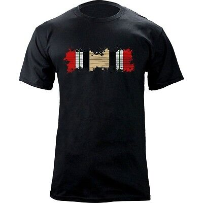 Iraqi Freedom Ribbon - Distressed Iraq Campaign Medal Ribbon Iraq Veteran OIF Iraqi Freedom T-Shirt