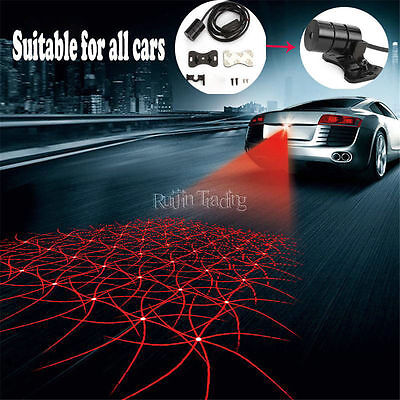 1*Car Cool Pattern Anti-Collision End Rear Tail Fog Driving Laser Caution Light