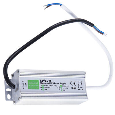 50w 50 Watt Ip67 Waterproof Led Power Supply Driver Transformer To 12v Dc Output