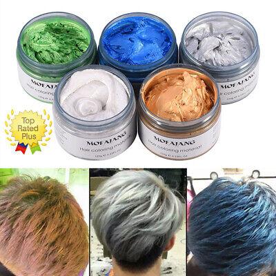 UK Mofajang 6 Colors Unisex Hair Color Wax Mud Dye Styling Cream DIY Coloring