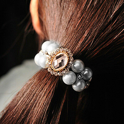 Fashion women hair accessories headband Elastic Ponytail hair holder tie Band