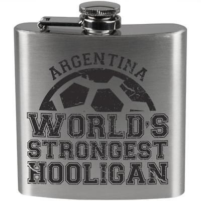 World Cup World's Strongest Hooligan Argentina Etched Pint (Strongest Glasses)