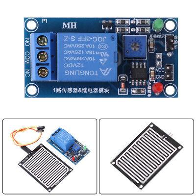 12v Rain Water Raindrop Relay Sensor Control Relay Module For Arduino Robot Coi