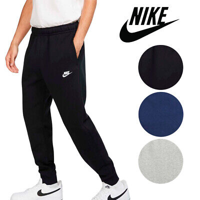 Nike Men's Athletic Wear Ribbed Cuff Drawstring Fleece Jogger Sweatpants Activewear