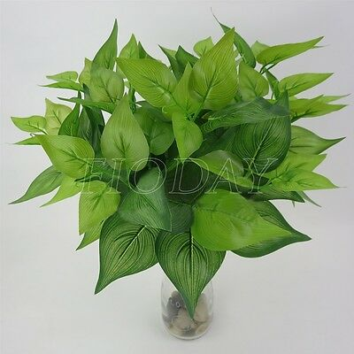 Rich Leaves Artificial Grass Fake Leaf Greenery Foliage Green Plant Home Decor  (Rich Decor)
