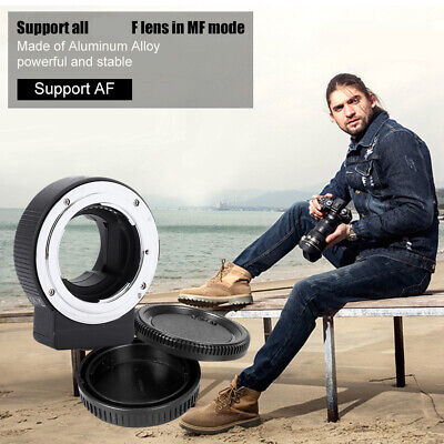 Commlite CM-ENF-E1 PRO AF Adapter For Nikon F Lens To Sony E-Mount