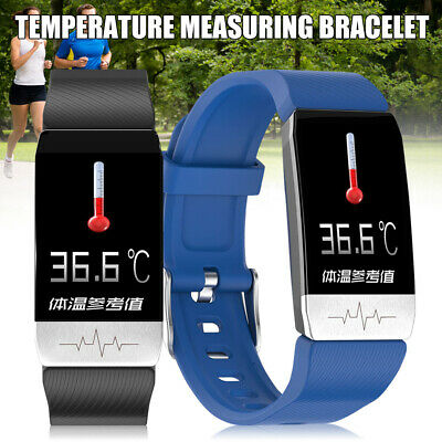 Smart Watch Body Thermometer Temperature Monitor Bracelet Waterproof Heart Rate