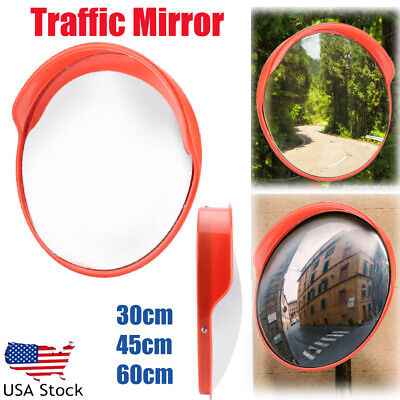 122424 Wide Angle Security Convex Mirror Outdoor Road Traffic Driveway Safety