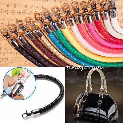 Diy Purse - Leather Braided Purse Handle Shoulder Bags Belt Replacement Handbag Strap DIY US