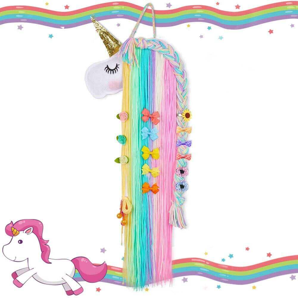 Unicorn Hair Clip Holder Headband Bow Hanger Organizer Girl