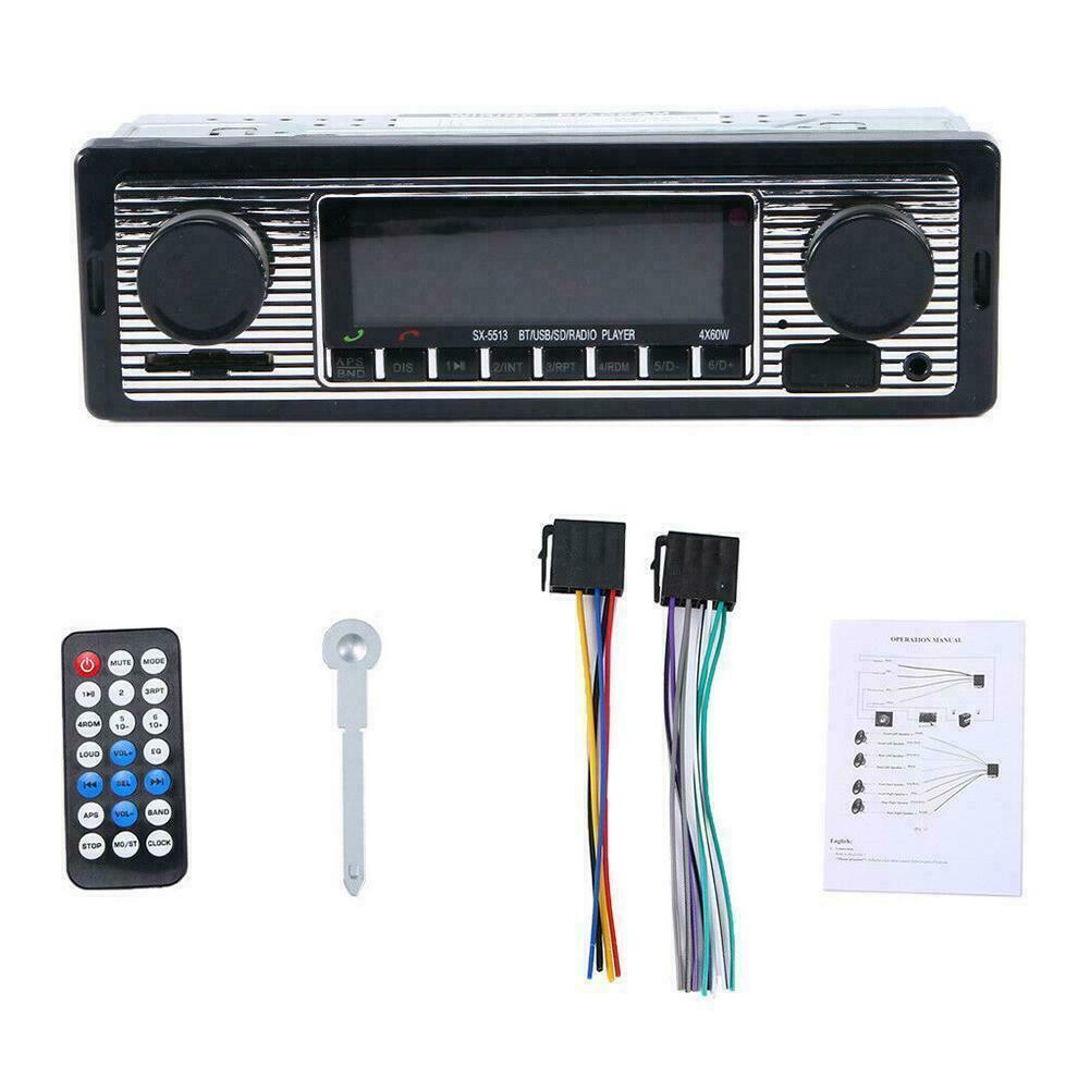 bluetooth vintage car radio mp3 player stereo