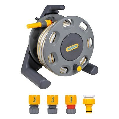 Hozelock Free Standing Garden Watering Hose Reel with 25m Hose & Fittings 2412