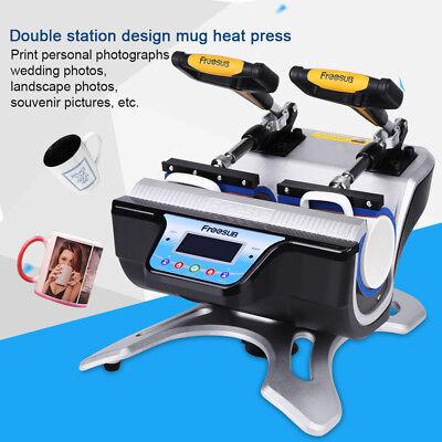 Double Station Mug Heat Press Machine St-210 Sublimation For 10oz 11oz 15oz 17oz