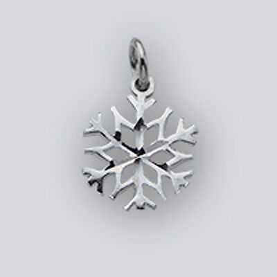 Sterling Silver Snowflake Winter Charm Pendant -