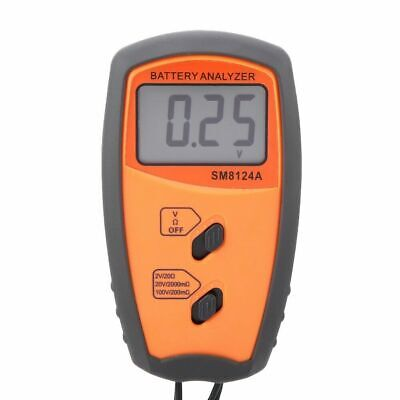 New Sm8124a Lcd Display Digital Resistance Voltmeter Battery Voltage Tester Usa