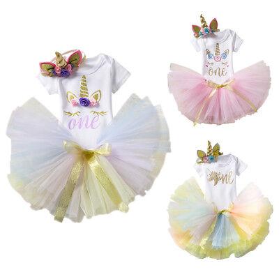 Unicorn Costume For Toddler (1st Birthday Unicorn Costume for Toddler Baby Girls Romper Skirt Clothes)