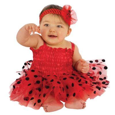 Infant Girls Red Ladybug Costume Baby Lady Bug Tutu Dress & Headband - Lady Bug Infant Costume