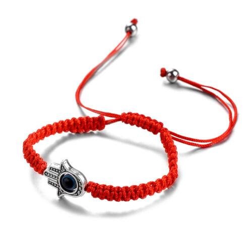 Red String Hand-made Blue Evil Eye Lucky Kabbalah Bracelet F