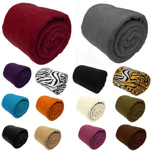 Luxury-Warm-Soft-Large-Fleece-Sofa-Bed-Blanket-Throw-8-Colours-3-Size-Available