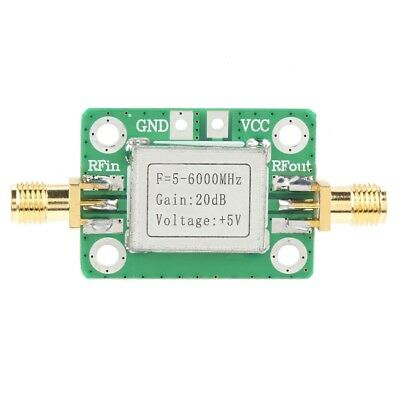 5m-6ghz Rf Broadband Wideband Signal Power Amplifier With 20db Gain 5v Dc