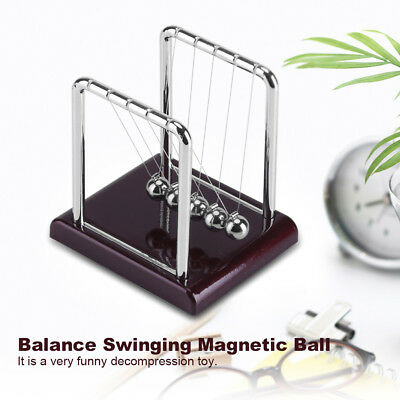 Magnetic Balance Balls Motion Desk Physics Science Pendulum Toy Desk Fun Gift US - Fun Office